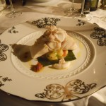 scaloppa di branzino four season