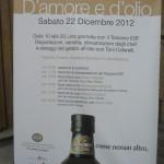 d'amore e d'olio, dicembre 2012, Firenze