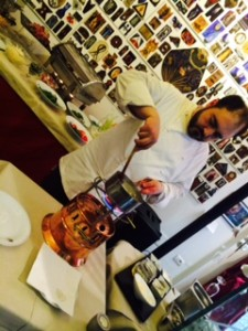 lo chef del Caffè Florian di Firenze