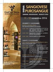 programma di Sangiovese Purosangue a Siena