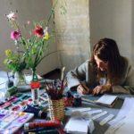acquarelli con fiori di campo, Watercolors with field flowers