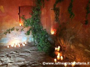 Arranging a wedding with flowers and candles