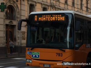 How to get from Padua station to Abano Terme.