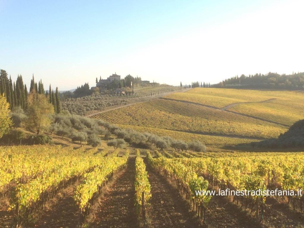 La tenuta di Frescobaldi a Gaiole in Chianti