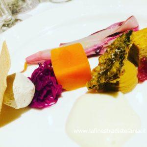 piatto vegetariano con verdure del Veneto